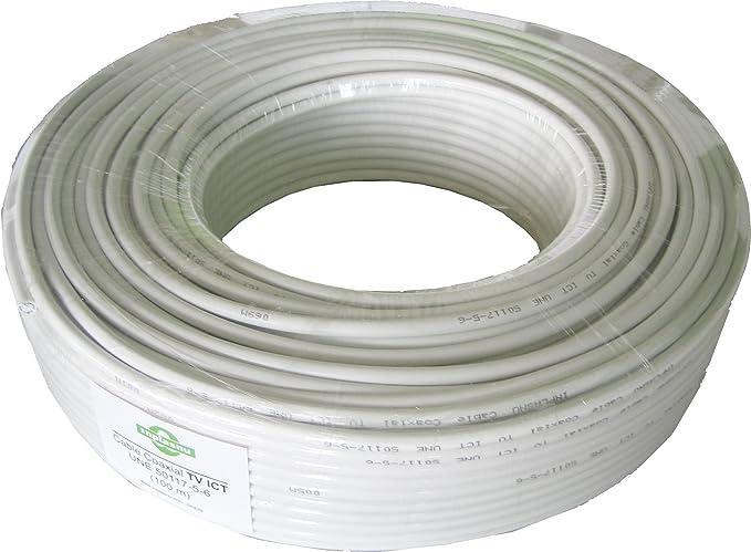 Cable Antena Coaxial RG6 100 metros: Amazon.es: Electrónica