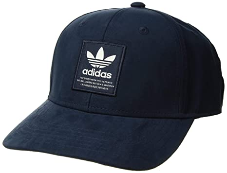 adidas Originals Men's Patch Trucker Structured Cap, Collegiate NavyChalk White, ONE SIZE