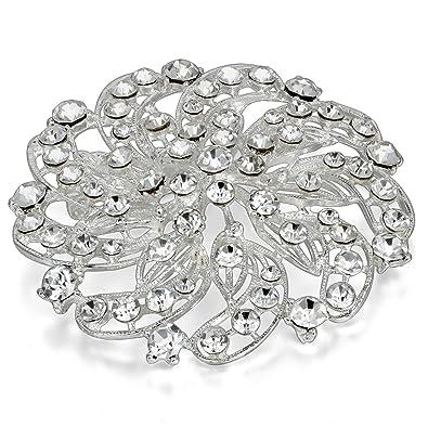 JewelryWe Joyería Broches para Vestidos Novia, Precioso Broche de ...