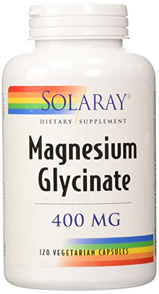 amazon com solaray magnesium glycinate dietary supplement 400 mg