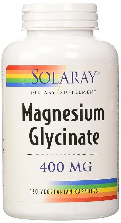 Suplemento dietético, glicinato de magnesio, 400 mg por 4 cápsulas, 120
