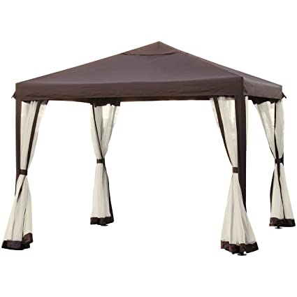 Best Choice Products 10x10ft Outdoor Garden Patio Canopy Gazebo W/Fully  Enclosed Mesh Insect Screen