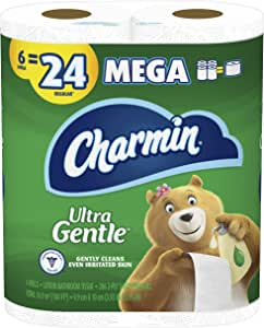 Charmin Ultra Gentle Toilet Paper, 6 Count of 286 Sheets Per Roll, Pack of 3