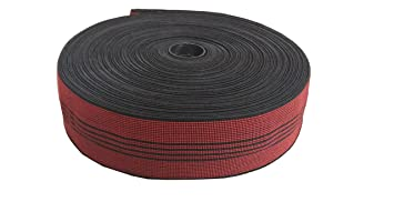 SAE 4 Star Furniture Sofa Elastic Webbing Tape (25 m, 2-inch Width, Red)