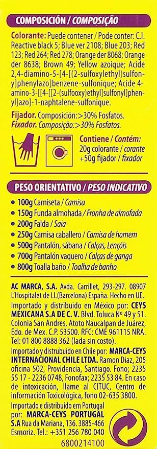 Iberia Tinte Amarillo para Ropa - 70 gr: Amazon.es: Salud y ...