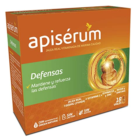 Apisérum Defensas Viales bebibles - Jalea Real, Vitaminas, Echinacea, Zinc, Reishi y