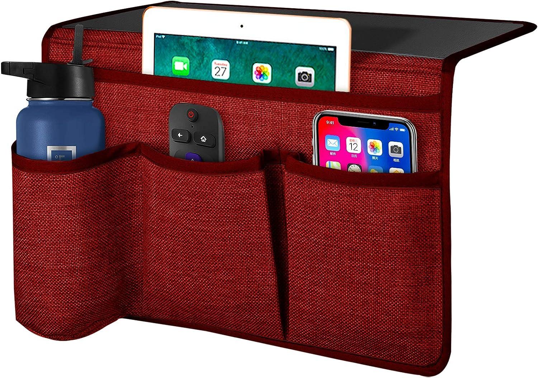 Joywell Bedside Caddy 4 Pockets Bedside Remote Control Holder Storage Organizer