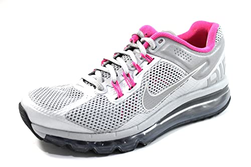 buy popular 63baf ca164 Nike Women's Air Max 2013 LE Silver/Pink Running Shoes 579585 066 (8 ...