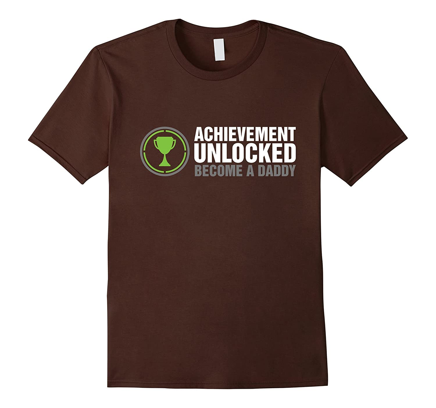 Achievement Unlocked Shirt  Become A Daddy-TH