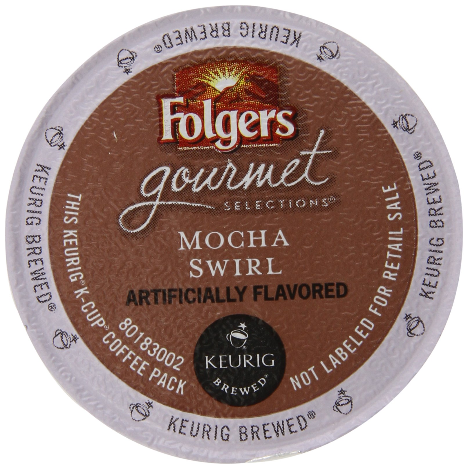 Folgers Gourmet Selections Countions Mocha Swirl Flavored Packs, 72 Count