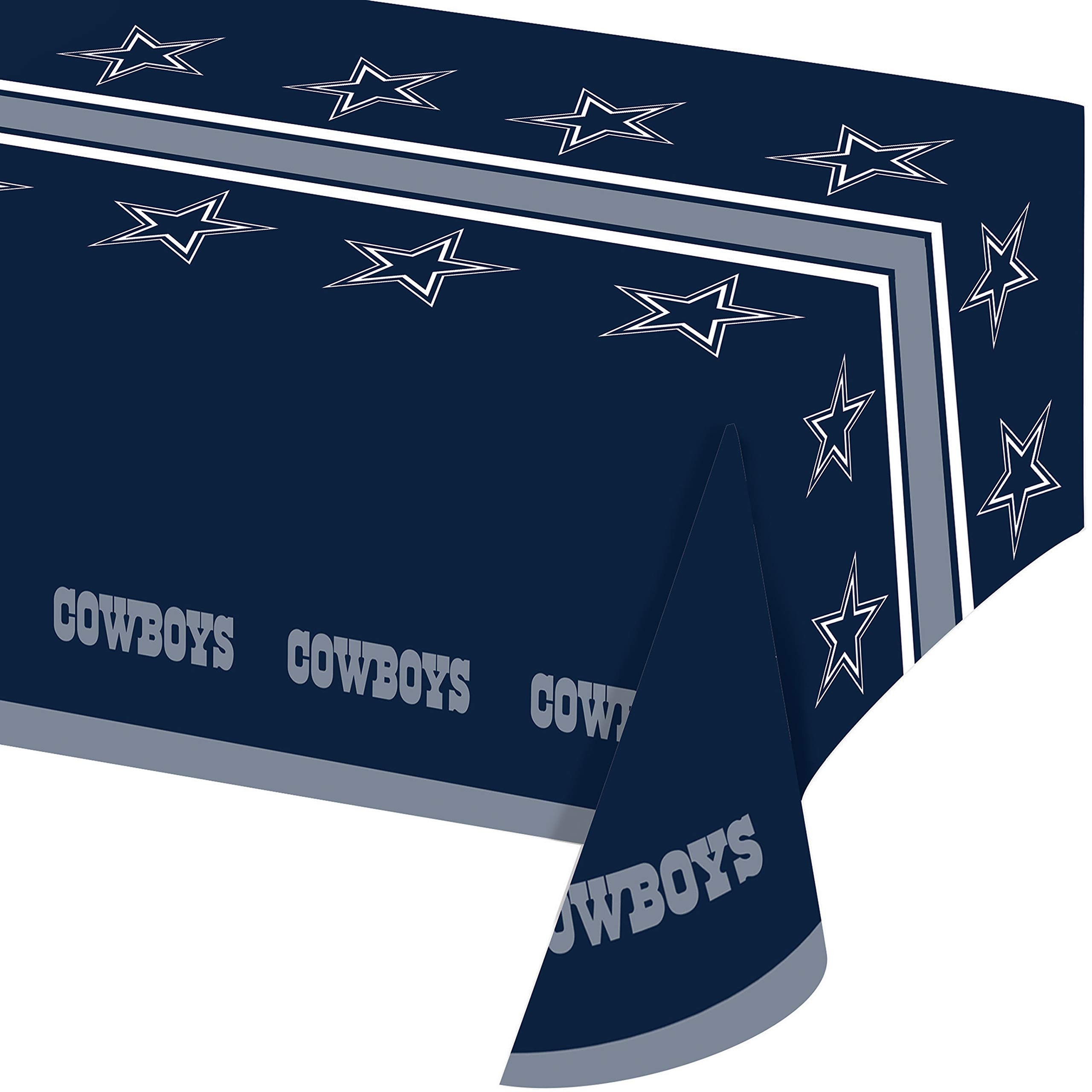 Dallas Cowboys Plastic Tablecloths, 3 ct by Creative Converting