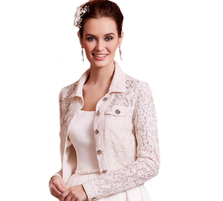 Ivory Bolero - Chaqueta para novia, color crema, tallas XS ...