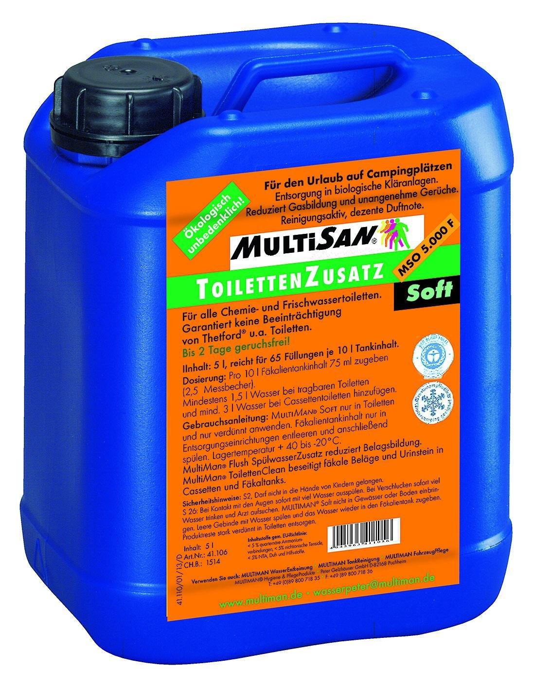 MultiSan ToilettenZusatz 'SOFT' (auf Campingplätzen mit biol. Kläranlage)
