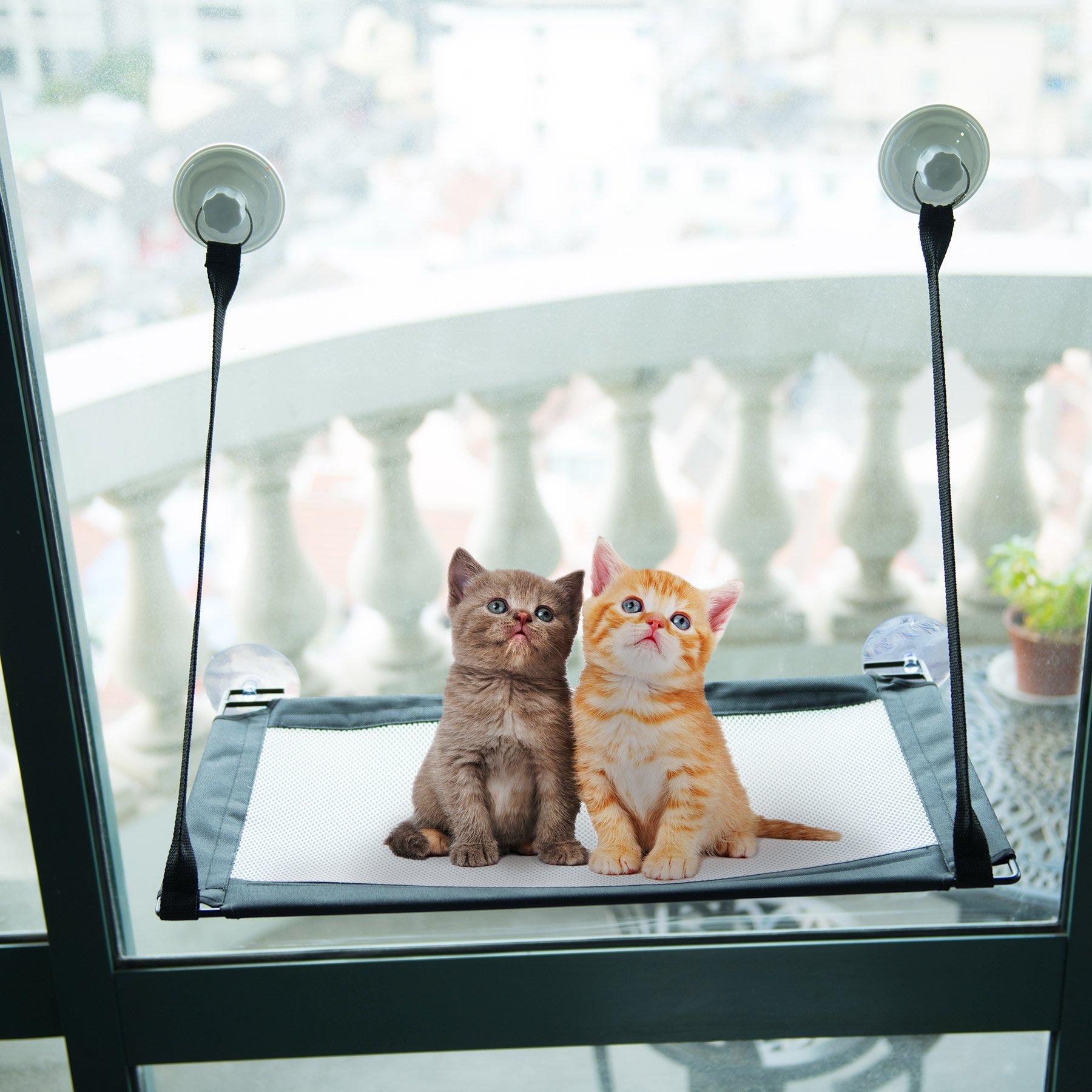 CO-Z Kitty Window Mount Cat Window Perches Resting Hammock with 4 Ultra Heavy