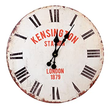 Roomando Xxl Wanduhr Uhr O 58 Cm Shabby Vintage Motivuhr Kuchenuhr