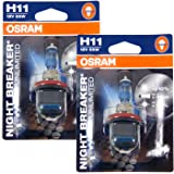 Osram Night Breaker Unlimited Headlight Bulbs Pair-H11