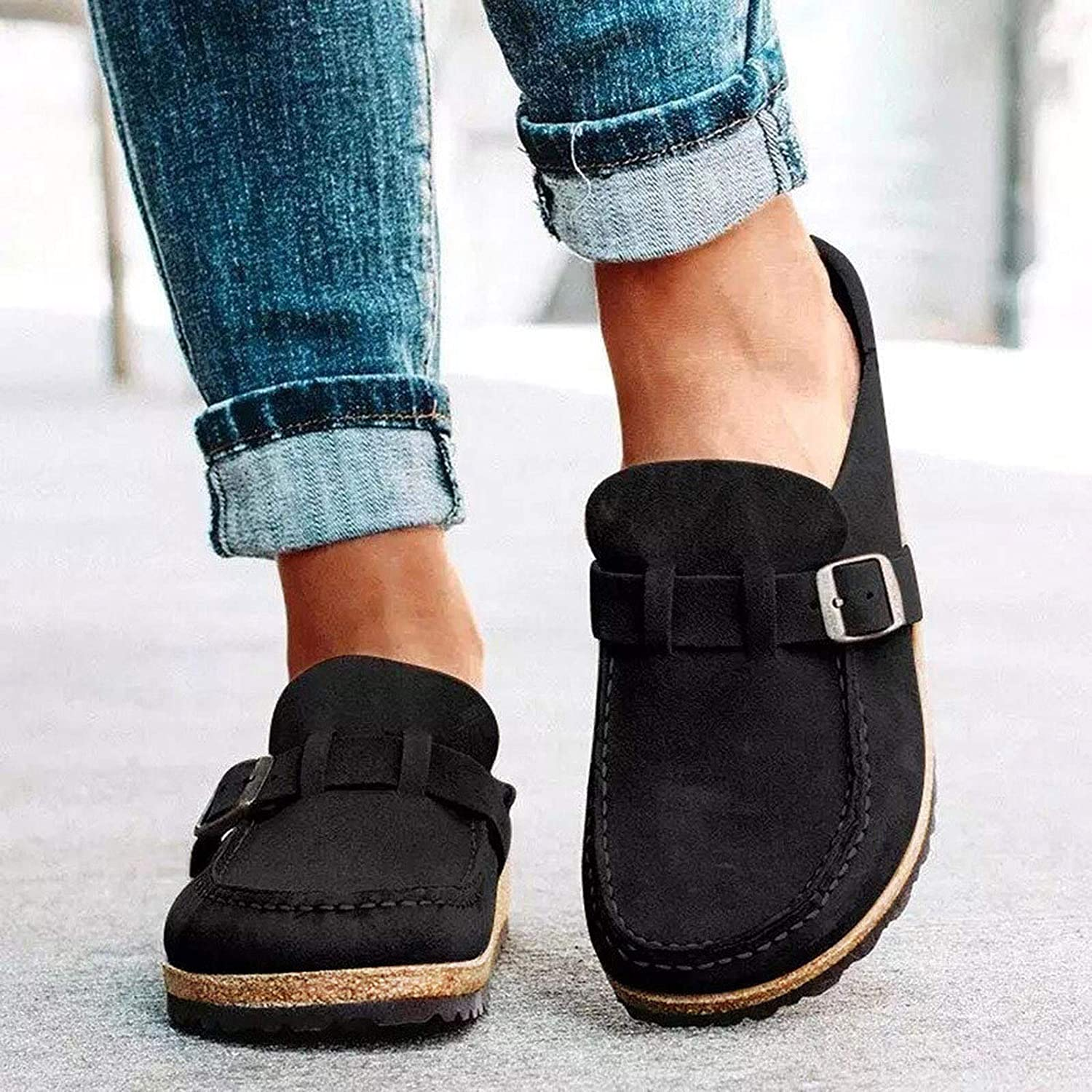 NEW LADIES WOMENS LOAFERS FLAT SLIP ON COMFORT PU WORK SCHOOL CASUAL SHOES SIZES