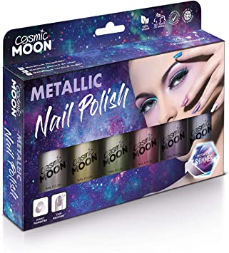 Cosmic Moon métallisé Vernis à Ongles Rouge Halloween Maquillage CMS 12040