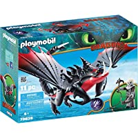 PLAYMOBIL 70039 DreamWorks Dragons Deathgripper with Grimmel Playset (11 Piece),Multi