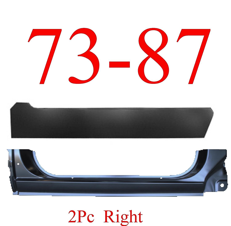 73-87 Chevy 2Pc Right Extended Rocker Panel & Inner KEYPART