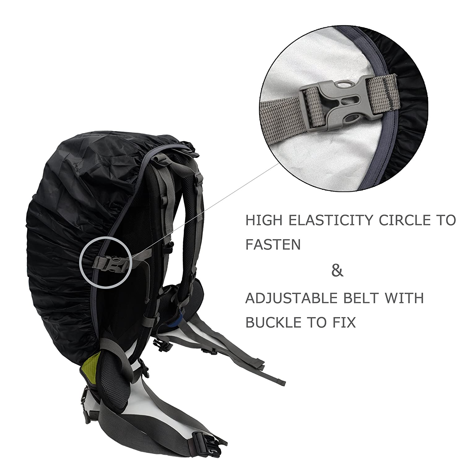 Klong Backpack Rain Cover Waterproof Sunproof Hiking Camping Traveling with Carry Bag