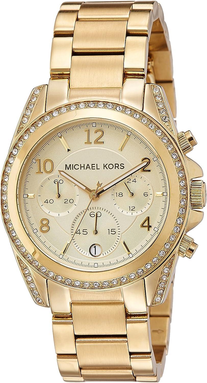 Michael Kors Reloj Cronógrafo para Mujer de Cuarzo con Correa en Acero Inoxidable