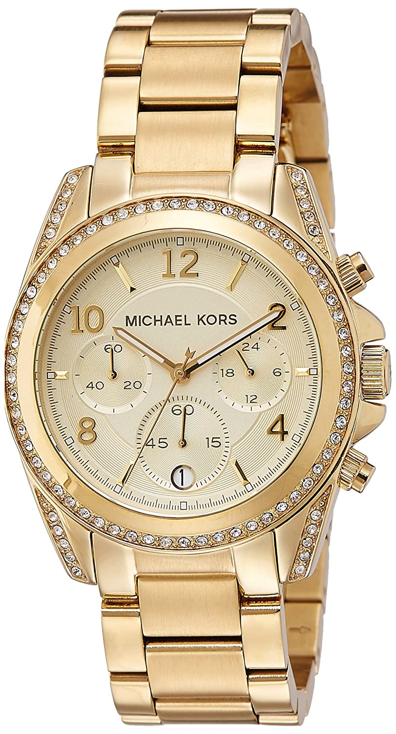 Amazoncom Michael Kors Golden Runway Watch With Glitz MK - Graphic design invoice template word michael kors outlet online store