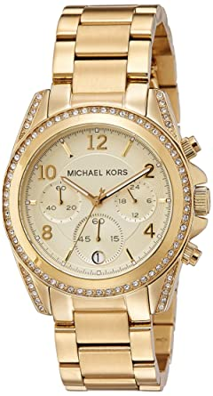 08c7397e7205 Amazon.com  Michael Kors Golden Runway Watch with Glitz MK5166 ...