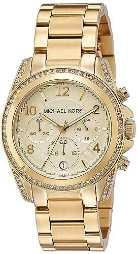 4293210fcf6ec Michael Kors Golden Runway Watch with Glitz MK5166