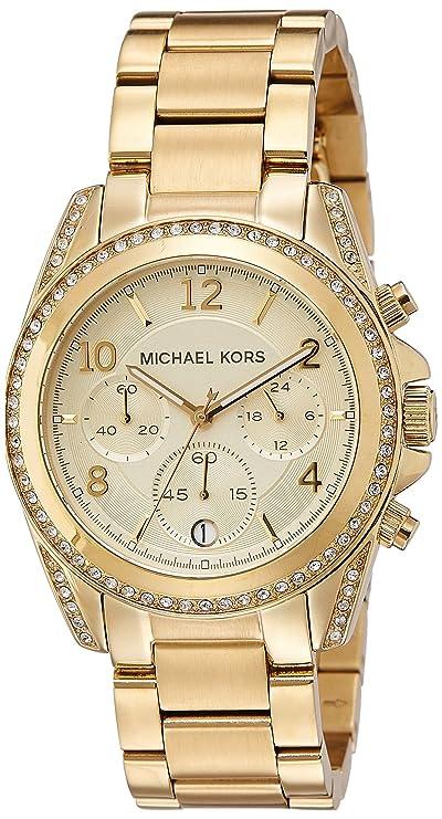 f332431b4 Amazon.com: Michael Kors Golden Runway Watch with Glitz MK5166: Michael Kors:  Watches