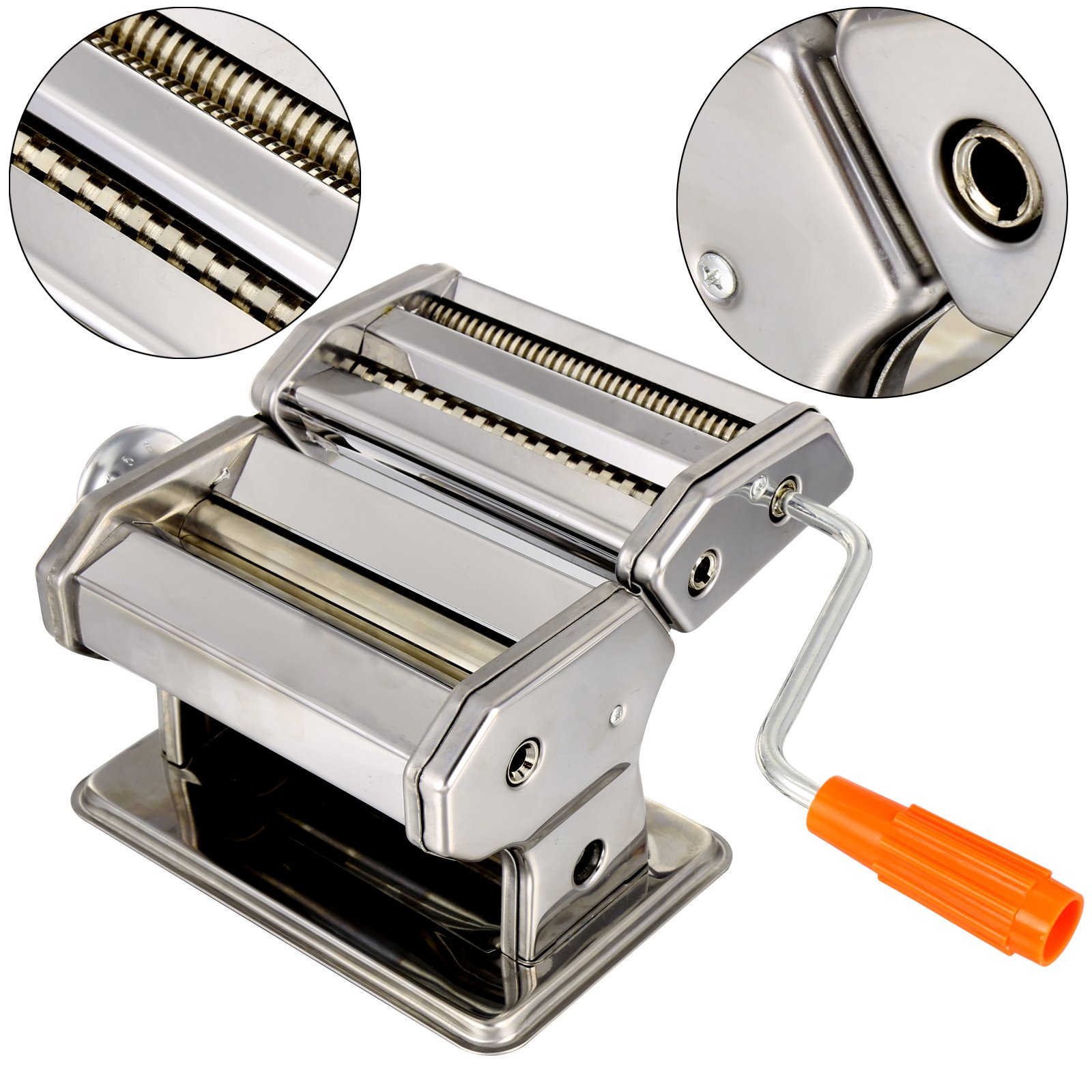 Pasta Maker Machine, Stainless Steel roller and cutter for Spaghetti , Fettuccine and Noodle , include 2 Blades (TYPE B) by Jaketen (Image #5)