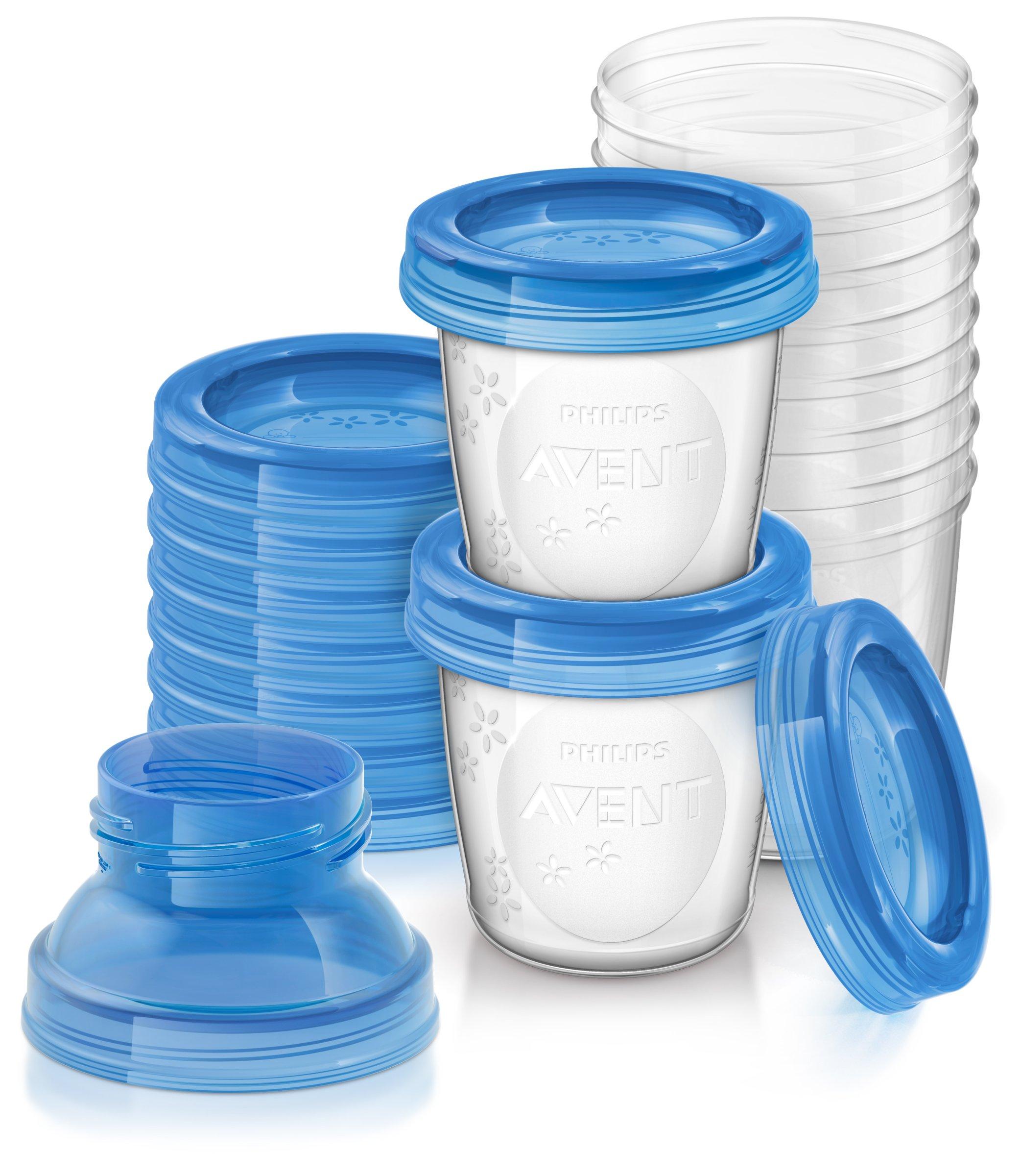 Philips Avent Reusable Breast Milk Storage Cups, Pack of 10, SCF618/10