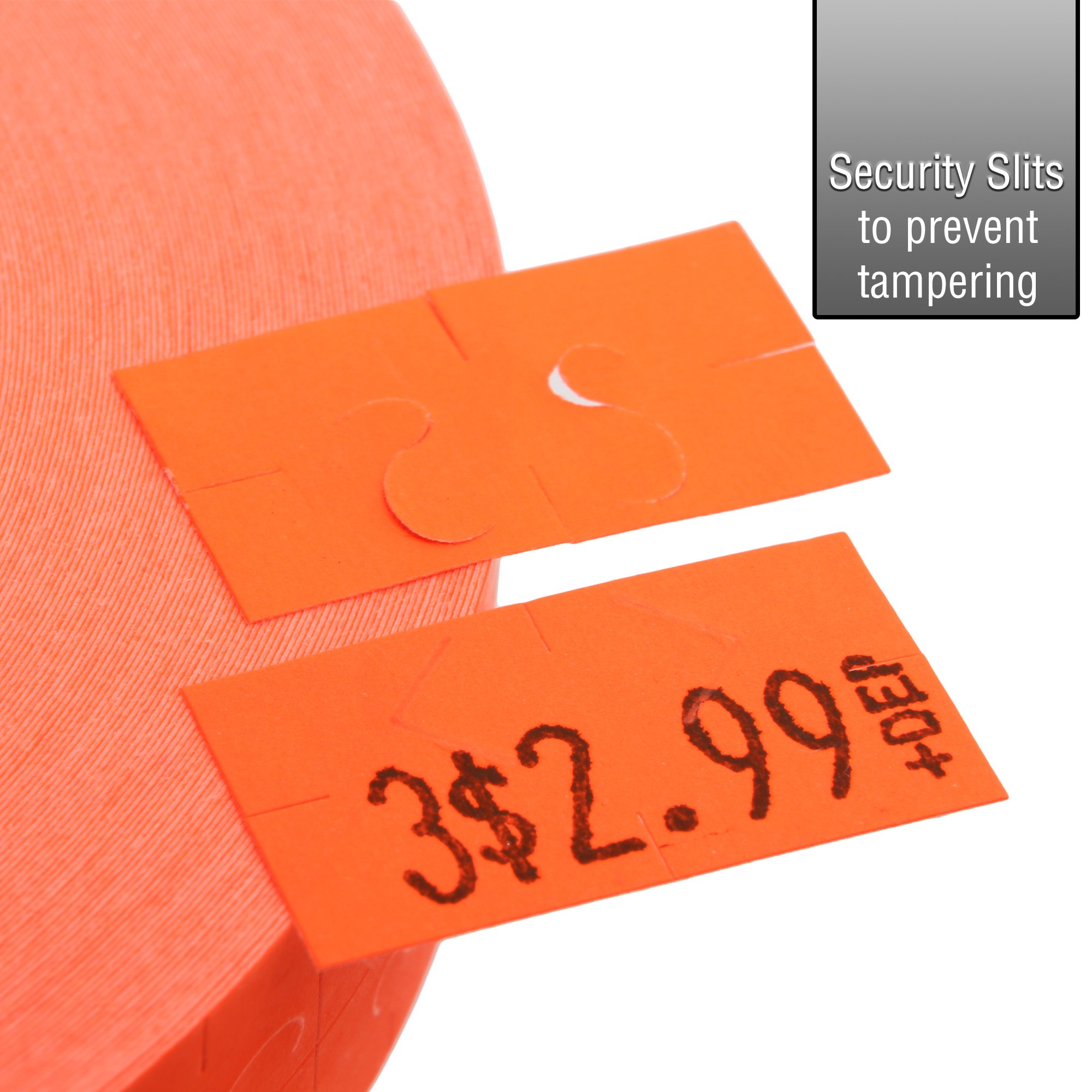 Flou. Red Pricing Labels for Monarch 1131 Pricing Gun – 8 Sleeve, 160,000 Price Gun Labels – with Bonus Ink Rolls by Perco (Image #4)