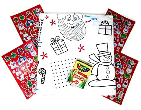 Amazoncom Kids Color On Table Coloring Activity Christmas