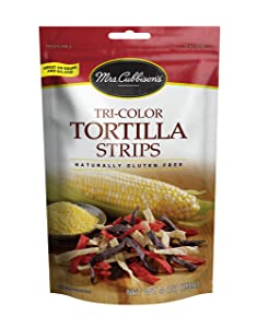 Mrs. Cubbison's Tortilla Strips, Tri-Color, 4 Ounce (Pack of 9)