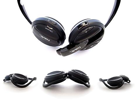 Lotiene HV-ST031BL deportivos inalámbricos auriculares Bluetooth con micrófono, color negro