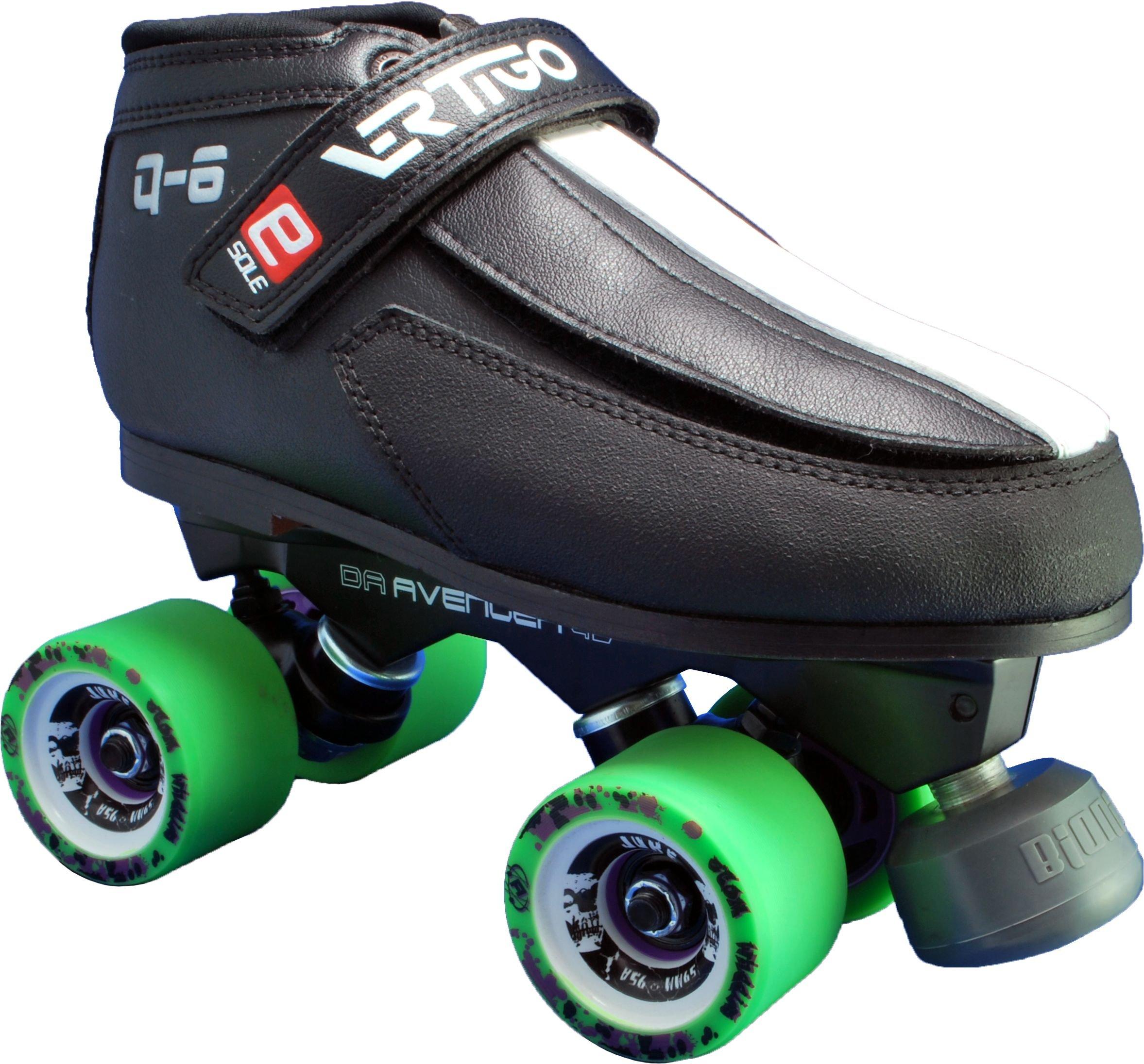Luigino Vertigo Q6 Falcon Juke Roller Derby Skates - Luigino Quad Derby Skates Ladies 7 by Luigino