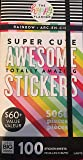 Rainbow Super Cute Awesome Totally Amazing Stickers