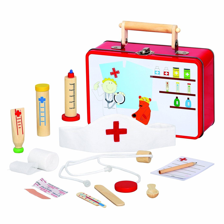 Medico Spielzeug Tierarztkoffer Holz - Bino Tierarztkoffer