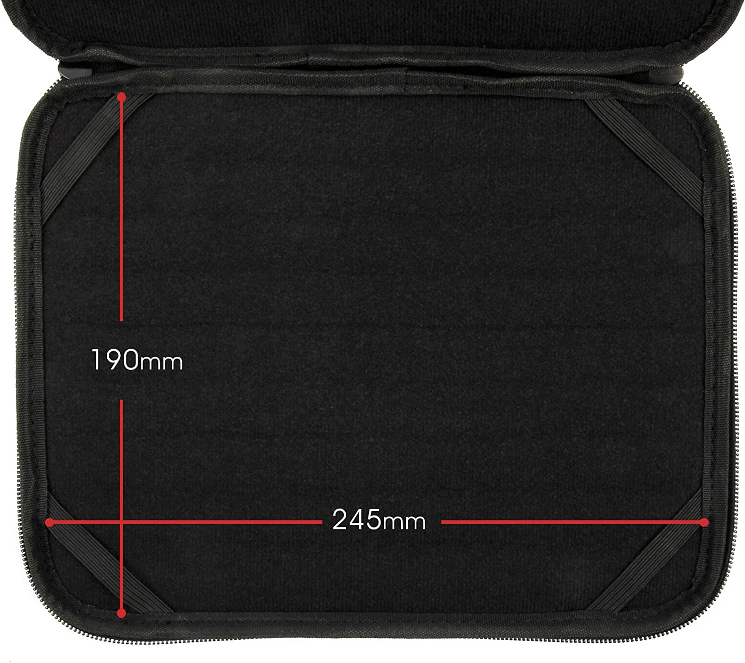 DURAGADGET Black Water /& Impact Resistant Memory Foam Notebook Carry Case Compatible with 10.1 Inch Netbooks