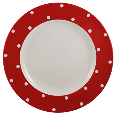 Spode Baking Days Red Dinner Plate, Set of 4: Amazon.co.uk: Kitchen ...