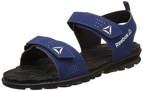 e70f0e25a1b709 Reebok Men s Royal Flex Blue Yellow Metsil Wht Grey Sandals - 8 UK ...