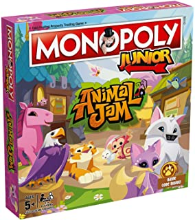 Winning Moves Animal Jam Junior Monopoly Board Game: Amazon.es: Juguetes y juegos