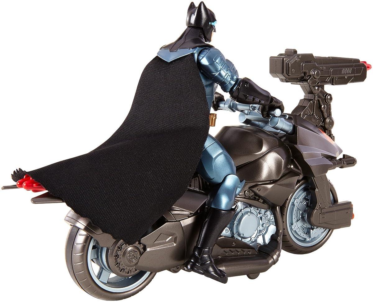 """DC Justice League Batman & Batcycle Action Figure, 6"""""""