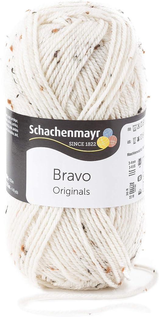 Schachenmayr Handstrickgarne Bravo, 50g Natur Tweed: Amazon wziH0