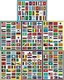 LUCKYBEE 世界の国旗 224枚 シール ステッカー トラベル旅行ステッカー スーツケース/ギター/車/バイク/自転車/ヘルメット/パソコン/携帯/ノート A4 異なる 7PCSセット