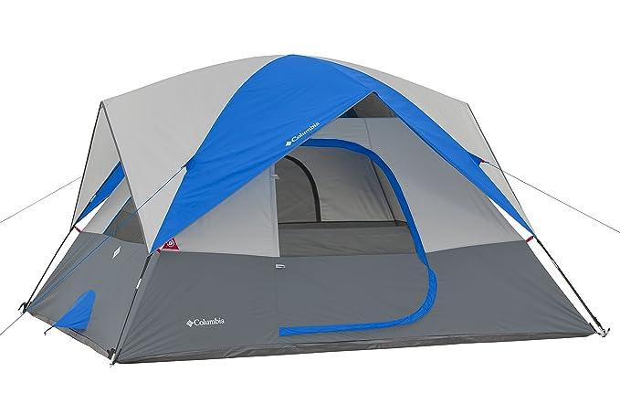 cheaper 17dd5 bbfd8 Amazon.com : Columbia 6 Person Dome Tent, Grey/Blue : Sports ...