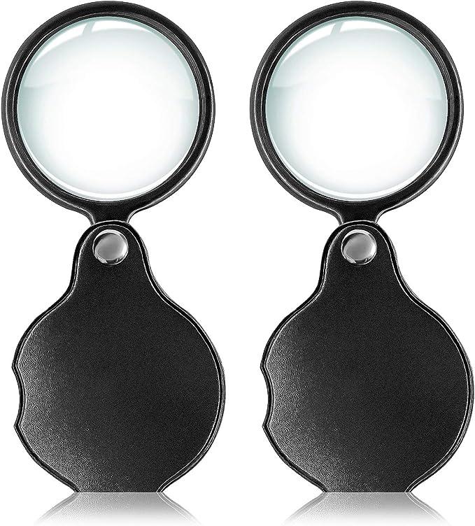 mini pocket 6x 65mm folding jewelry magnifier magnifying eye loupe glass lenRCUK