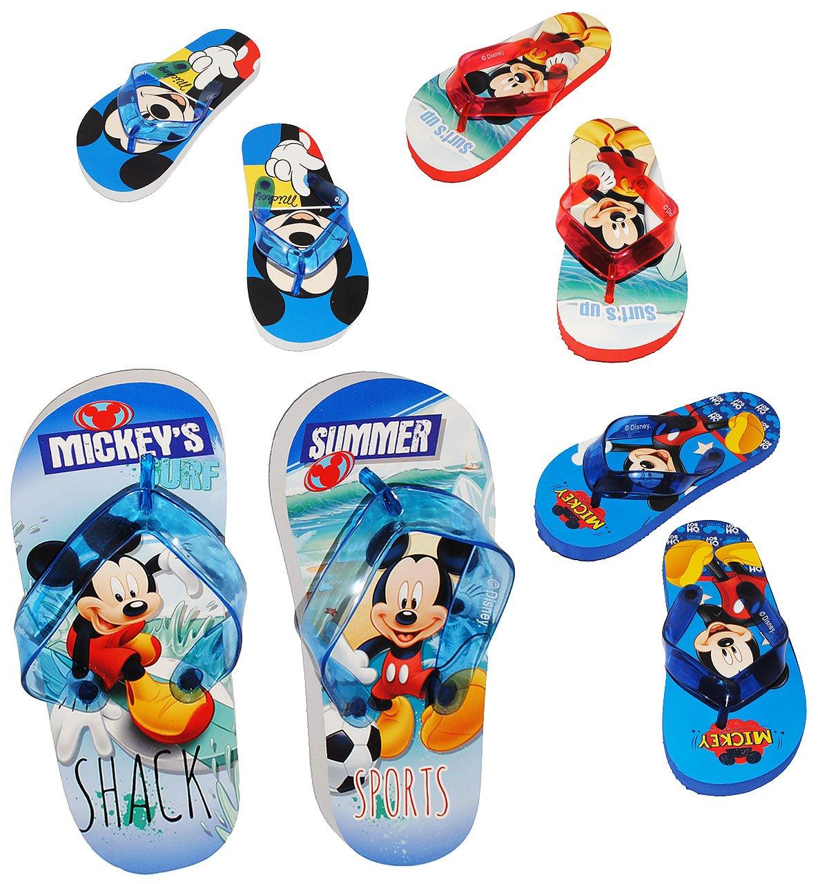 alles-meine.de GmbH Zehentrenner Sandalen - Gr. 29 / 30 -  Disney Mickey Mouse - Rutschfeste Schuhe Schuh / Badeschuhe mit Profilsohle - für Kinder - Jungen & Mädchen / Haussch..