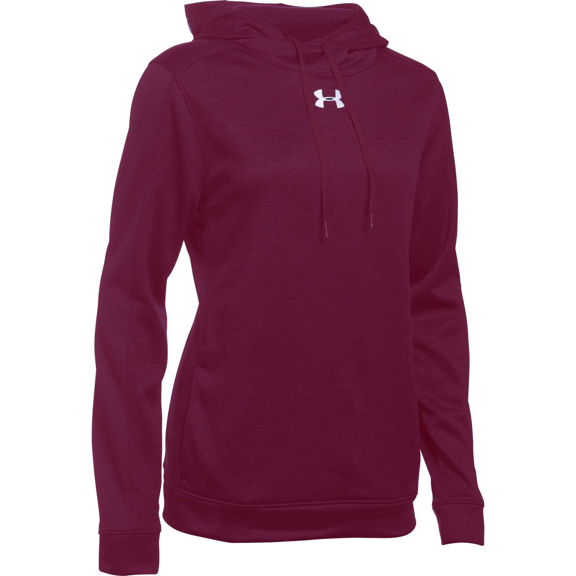Under Armour Women's Novelty AF Hoody (Large, Maroon/White)